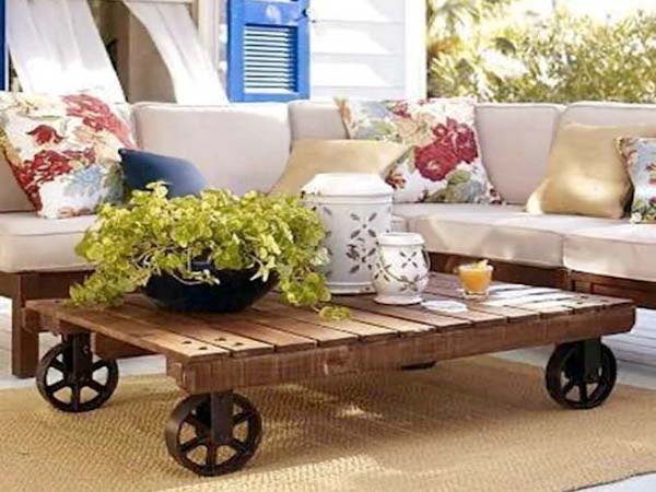 8 mesas de centro originales tu toque personal - Mesa centro ruedas ...